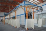 Coating machine for wood
